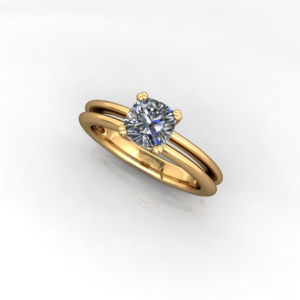 Diamond Solitaire Wedding Rings